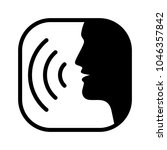 icon voice command with sound...   Shutterstock .eps vector #1046357842