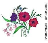 Vector Bouquet Of Garden...