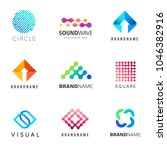 collection of vector logos for... | Shutterstock .eps vector #1046382916