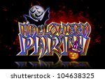 halloween party lettering with... | Shutterstock . vector #104638325