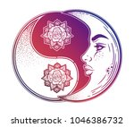 yin and yang symbol with... | Shutterstock .eps vector #1046386732