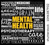 mental health word cloud... | Shutterstock .eps vector #1046387932