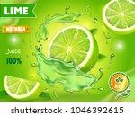 lime juice poster advertising... | Shutterstock .eps vector #1046392615