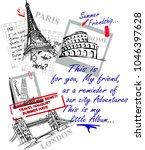 paris london roma italli... | Shutterstock .eps vector #1046397628