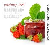 fresh strawberry jam isolated... | Shutterstock . vector #104639846
