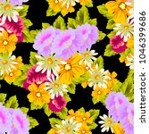beautiful floral seamless... | Shutterstock .eps vector #1046399686