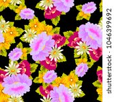 beautiful floral seamless... | Shutterstock .eps vector #1046399692