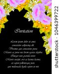 flower frame on black... | Shutterstock .eps vector #1046399722
