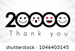 thank you 20000 followers... | Shutterstock .eps vector #1046403145