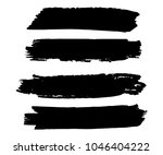 collection of hand drawn black... | Shutterstock .eps vector #1046404222