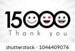 thank you 15000 followers... | Shutterstock .eps vector #1046409076