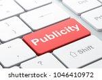 advertising concept  computer... | Shutterstock . vector #1046410972