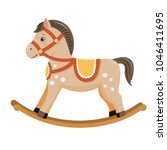 rocking horse.baby toy.... | Shutterstock .eps vector #1046411695