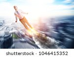 with all his power and energy | Shutterstock . vector #1046415352