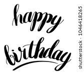 happy birthday isolated vector... | Shutterstock .eps vector #1046418265