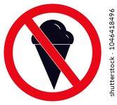 no ice cream vector. no ice...   Shutterstock .eps vector #1046418496
