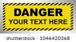 Black   Yellow Danger Warning...