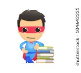 funny cartoon superhero in... | Shutterstock .eps vector #104642225