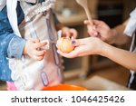 cute little girl and her...   Shutterstock . vector #1046425426