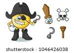 Emoticon Pirate Mascot Vector...