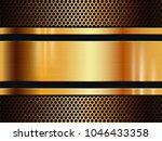 vector gold metal texture... | Shutterstock .eps vector #1046433358