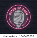 stand up show vector neon sign... | Shutterstock .eps vector #1046435056