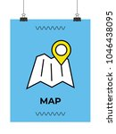 location on map icon   Shutterstock .eps vector #1046438095