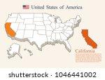 usa map vector  california | Shutterstock .eps vector #1046441002