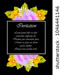 flower frame on black... | Shutterstock .eps vector #1046441146