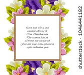 frame of flowers. for your... | Shutterstock .eps vector #1046441182