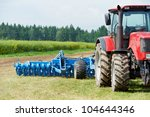 Ploughing Heavy Tractor During...