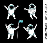 cute funny cosmonaut astronaut... | Shutterstock .eps vector #1046453815