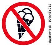 no ice symbol.  prohibited...   Shutterstock .eps vector #1046456212