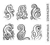 ocean waves set isolated on...   Shutterstock .eps vector #1046462845
