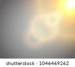sunshine vector effect isolated ... | Shutterstock .eps vector #1046469262