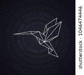 little linear hummingbird... | Shutterstock .eps vector #1046474446
