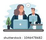 vector cartoon illustration of... | Shutterstock .eps vector #1046478682