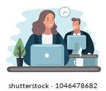 vector cartoon illustration of... | Shutterstock .eps vector #1046478682