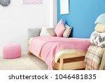 interior of cozy children's... | Shutterstock . vector #1046481835