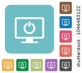 display standby mode white flat ... | Shutterstock .eps vector #1046483122