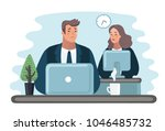 vector cartoon illustration of... | Shutterstock .eps vector #1046485732