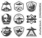 Vintage Monochrome Ufo Labels...
