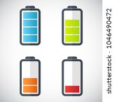 illustration of battery level... | Shutterstock .eps vector #1046490472