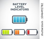 illustration of battery level... | Shutterstock .eps vector #1046492782