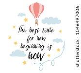 the best time for new beginning ... | Shutterstock .eps vector #1046497006