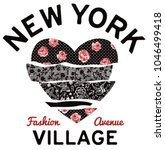 new york village typography... | Shutterstock .eps vector #1046499418