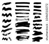vector set of ink splashes... | Shutterstock .eps vector #1046510272