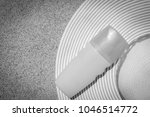 stylish beautiful hat with... | Shutterstock . vector #1046514772