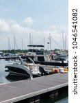 Small photo of Puteri Harbour, Johor/Malaysia-March 15 2018:Scenery of Puteri Harbour which is a first marina in Malaysia being recognized and awarded with 5 Gold Anchor Award by The Yacht Harbour Association (TYHA)