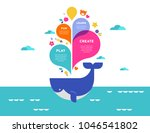 children summer camp  poster... | Shutterstock .eps vector #1046541802